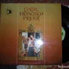 Discos de vinilo: LP CORAL FRANCISCO PIQUER. MOVIEPLAY1978. ABIERTO, PERO SIN ETRENAR. Lote 73828659