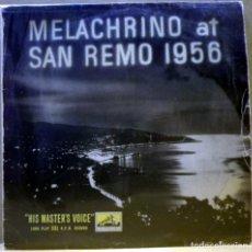 Discos de vinilo: THE MELACHRINO ORCHESTRA – MELACHRINO AT SAN REMO 1956 - DISCO DE 10 PULGADAS. Lote 73841531