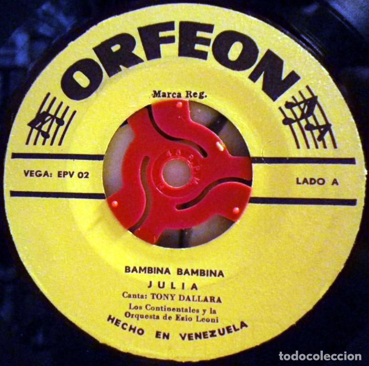 Discos de vinilo: Tony Dallara - Bambina Bambina, Julia... Hecho en Venezuela - Foto 3 - 73842947
