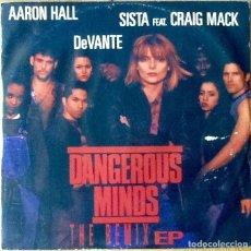 Discos de vinilo: AARON HALL / SISTA FEAT. CRAIG MACK / DEVANTE : DANGEROUS MINDS - THE REMIX EP [ITA 1996]. Lote 73929587