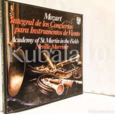 Discos de vinilo: MOZART · INTEGRAL DE LOS CONCIERTOS PARA INSTRUMENTOS DE VIENTO ·· CON ESTUCHE Y 4 LP´S. Lote 73933647