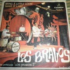 Discos de vinilo: LOS BRAVOS - BRING A LITTLE LOVIN - SINGLE ORIGINAL ESPAÑOL - COLUMBIA RECORDS 1967 - MONOAURAL -. Lote 121806948