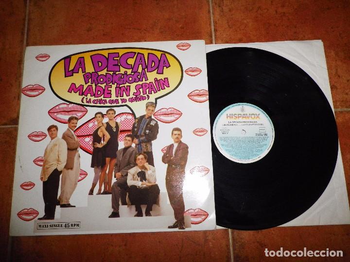 LA DECADA PRODIGIOSA MADE IN SPAIN MAXI SINGLE VINILO FESTIVAL EUROVISION AÑO 1988 VERSION LARGA (Música - Discos de Vinilo - Maxi Singles - Festival de Eurovisión)