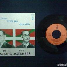 Discos de vinilo: ABERTZALEEN EUZKADI ABESTALDIA. Lote 73992827