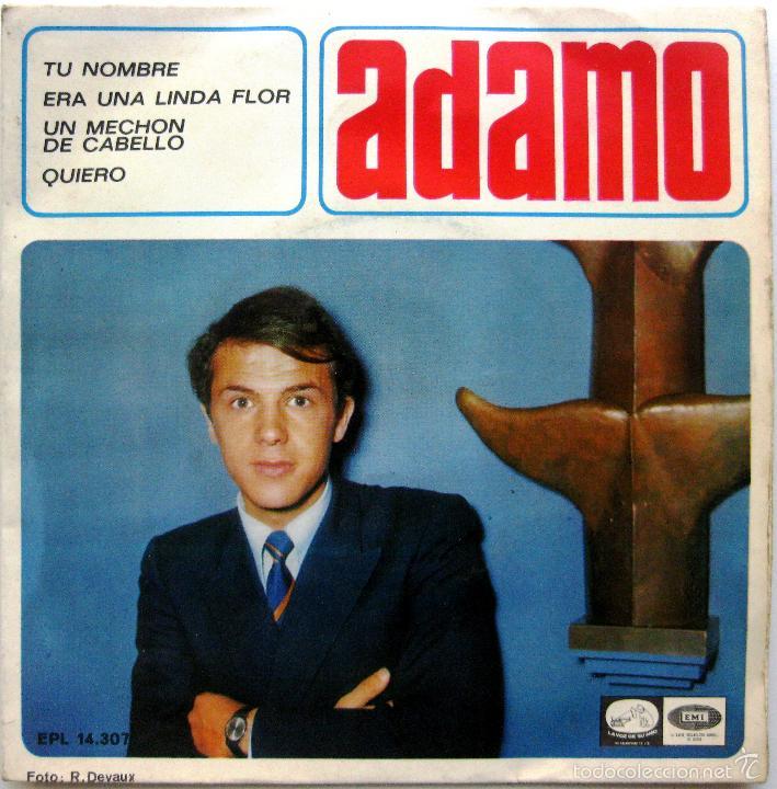 ADAMO - TU NOMBRE +3 - EP LA VOZ DE SU AMO 1966 BPY (Música - Discos de Vinilo - EPs - Canción Francesa e Italiana)