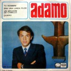 Discos de vinilo: ADAMO - TU NOMBRE +3 - EP LA VOZ DE SU AMO 1966 BPY. Lote 74025775