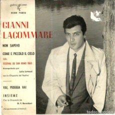 Disques de vinyle: EP FESTIVAL DE SAN REMO : GIANNI LACOMMARE : NON SAPEVO. Lote 74028523