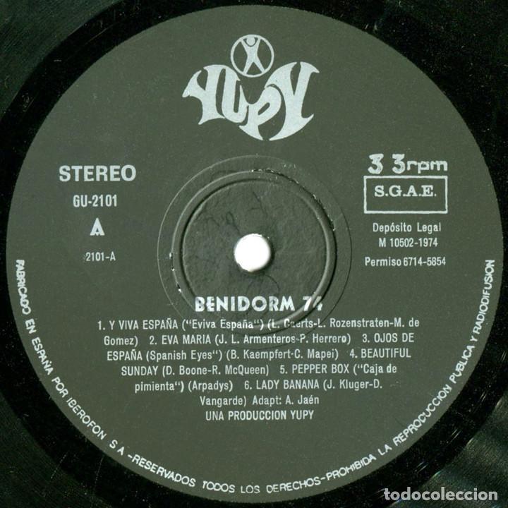 Discos de vinilo: VVAA - Benidorm 74 Y Viva España - Lp Spain 1974 - Yupy ?GU-2.101 - Foto 3 - 74070467