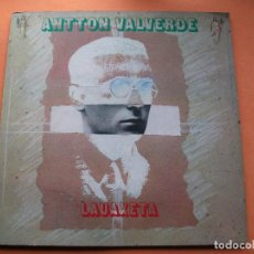 Discos de vinilo: ANTTON VALVERDE LAUAXETA LP ELKAR 1986 DOBLE CARPETA CON ENCARTE NUEVO¡¡. Lote 74071651