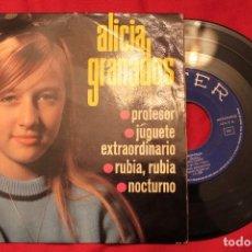 Discos de vinilo: ALICIA GRANADOS PROFESOR / JUGUETE / RUBIA / NOCTURNO EP 7 (VG++/EX-) C. Lote 74083067