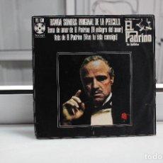 Discos de vinilo: SINGLE BANDA SONORA ORIGINAL DE LA PELICULA EL PADRINO.EL MILAGRO DEL AMOR-VIVE TU VIDA CONMIGO. Lote 254520250