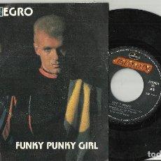 Discos de vinilo: AZUL Y NEGRO SINGLE FUNKY PUNKY GIRL 1984.. Lote 74093207