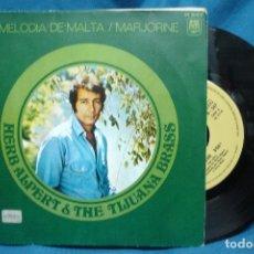 Discos de vinilo: - HERB ALPERT & THE TIJUANA BRASS - MELODIA DE MALTA/ MARJORINE - 1969. Lote 74093767