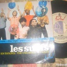 Discos de vinilo: LES SURFS CANTAN EN ESPAÑOL POR UNA ROSA / CLAC TAPE/YA VERAS/(1965-FESTIVAL)OG ESPAÑA. Lote 74100643