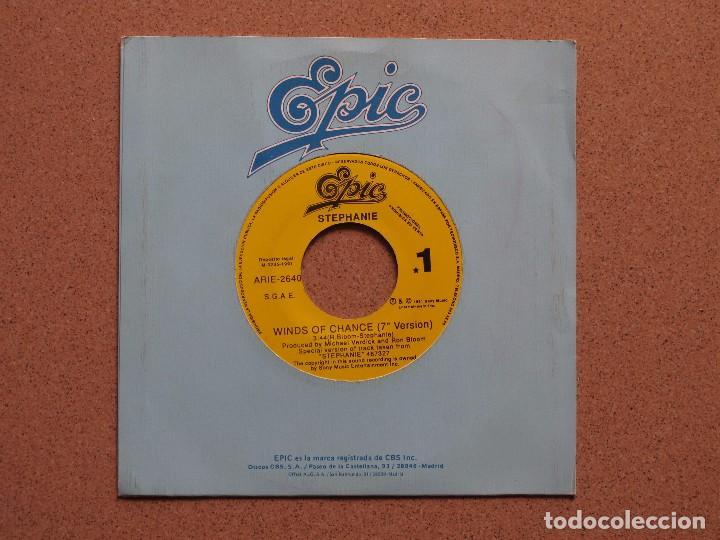 STEPHANIE - WINDS OF CHANGE - DISCO PROMOCIONAL DE UNA SOLA CARA (Música - Discos - Singles Vinilo - Pop - Rock Extranjero de los 90 a la actualidad)