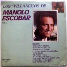 Disques de vinyle: MANOLO ESCOBAR - LOS VILLANCICOS DE MANOLO ESCOBAR VOL.2 - LP BELTER 1982 BPY. Lote 74181543