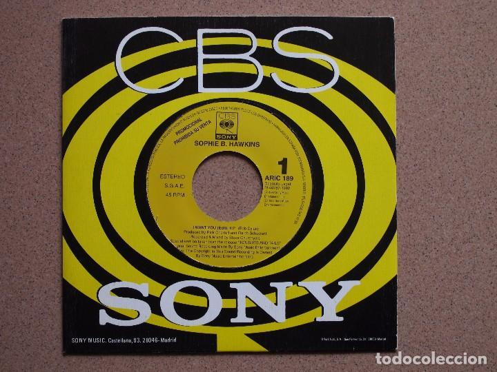 SOPHIE B. HAWKINGS - I WANT YOU - DISCO PROMOCIONAL DE UNA SOLA CARA (Música - Discos - Singles Vinilo - Pop - Rock Extranjero de los 90 a la actualidad)