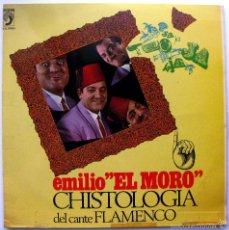 Discos de vinilo: EMILIO EL MORO ?– CHISTOLOGÍA DEL CANTE FLAMENCO - LP DISCOPHON 1965 BPY. Lote 74188443