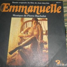 Disques de vinyle: EMMANUELLE B.S.O. - SINGLE ORIGINAL FRANCES - BARCLAY RECORDS 1974 - STEREO -. Lote 74202159
