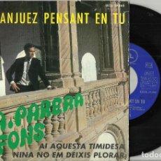 Discos de vinilo: A. PARERA FONS EP A ARANJUEZ PENSANT EN TU + 2 . 1967. Lote 74210671