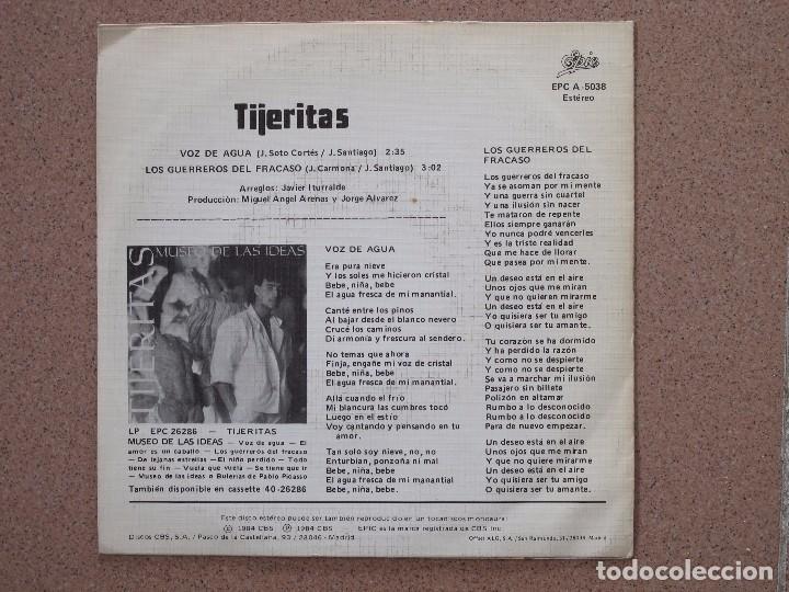 Discos de vinilo: TIJERITAS - VOZ DE AGUA - DISCO PROMOCIONAL DE UNA SOLA CARA - Foto 2 - 74230835