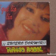 Discos de vinilo: TERESA RABAL - QUIERO DORMIR + LA GUARDERIA. Lote 74233523