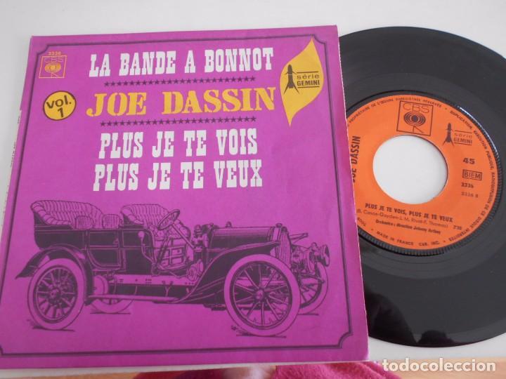 JOE DASSIN-SINGLE LA BANDE A BONNOT- FRANCES (Música - Discos - Singles Vinilo - Canción Francesa e Italiana)