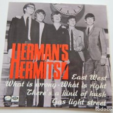 Discos de vinilo: HERMAN´S HERMITS - EAST WEST. GAS LIGHT STREET. WHAT IS WRONG... - EPL 45 R.P.M. 1967. Lote 74241939