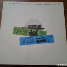 Discos de vinilo: THE BEATLES AT THE HOLLYWOOD BOWL LP GATEFOLD ED. ORIGINAL ITALIANA 3C 064-06377 PARLOPHONE. MUY .. Lote 74260443