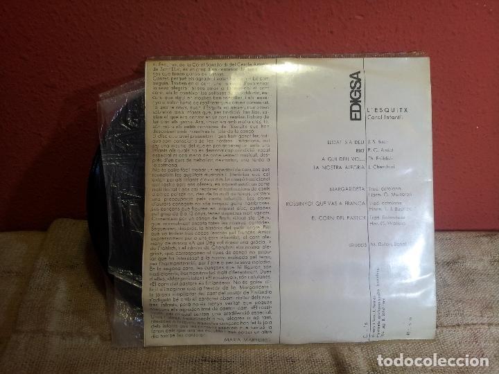 Discos de vinilo: L´ESQUITX // CORAL INFANTIL // DIRECCIO: M. DOLORS BONAL // EDIGSA 1966 (REF-1AC) - Foto 3 - 74269051