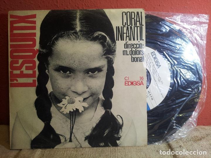 Discos de vinilo: L´ESQUITX // CORAL INFANTIL // DIRECCIO: M. DOLORS BONAL // EDIGSA 1966 (REF-1AC) - Foto 4 - 74271579
