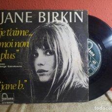 Discos de vinilo: JANE BIRKIN, JE T'AIME MOI NON PLUS, JANE B, VERSION ORIGINAL, DEL 1977. (REF-1AC). Lote 74272107