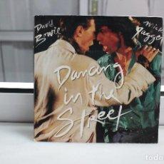 Discos de vinilo: SINGLE DAVID BOWIE Y MICK JAGGER. DANCING IN THE STREET.. Lote 74284591