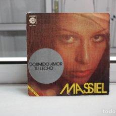 Discos de vinilo: SINGLE MASSIEL. DORMIDO AMOR - TU LECHO.. Lote 91666547