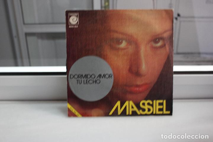 Discos de vinilo: SINGLE MASSIEL. DORMIDO AMOR - TU LECHO. - Foto 2 - 91666547