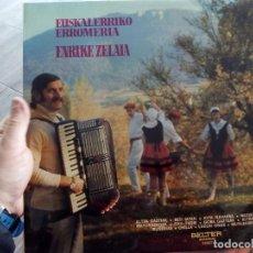 Discos de vinilo: LP EUSKAL HERRIKO ERROMERIA. Lote 74298123