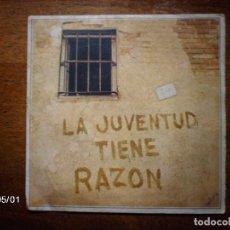 Discos de vinilo: MANOLO DIAZ - LA JUVENTUD TIENE RAZON + SIERRAS Y VALLES . Lote 74299647