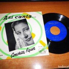 Discos de vinilo: CONCHITA PIQUER LA RUISEÑORA / TATUAJE EP VINILO LA VOZ DE SU AMO CONCHA PIQUER 4 TEMAS. Lote 74341823