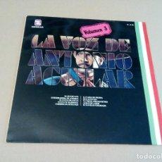 Discos de vinilo: ANTONIO AGUILAR - LA VOZ DE ANTONIO AGUILAR VOL.3 (LP 1980, ZAFIRO ML-88). Lote 74396951