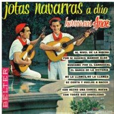 Discos de vinilo: HERMANOS ANOZ - JOTAS NAVARRAS A DÚO - EP 1961. Lote 74462103