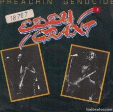 Disques de vinyle: EDDY GRANT - PREACHIN GENICIDE / NOBODY'S GOT TIME (SINGLE PROMO ESPAÑOL DE 1980). Lote 74531395