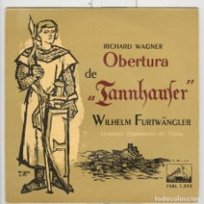 Discos de vinilo: WAGNER TANNHAUSER. FILARMÓNICA VIENA. LA VOZ DE SU AMO 1958. EP. Lote 74558123