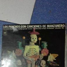 Discos de vinilo: LOS PANCHOS CON CANCIONES DE MANZANERO. Lote 74601427