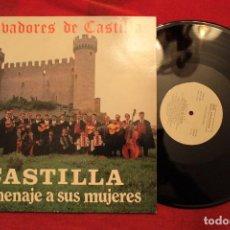 Discos de vinilo: LP TROVADORES DE CASTILLA HOMENAJE A SUS MUJERES - PROMO (EX-/EX-) B. Lote 74611315