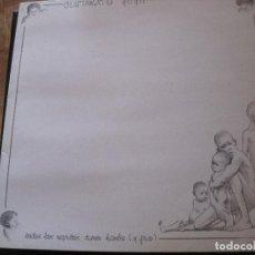 Discos de vinilo: LP-GLUTAMATO YE YE TODOS LOS NEGRITOS TIENEN HAMBRE MINI LP CON HOJA INTERIOR ARIOLA 1984. Lote 74612803