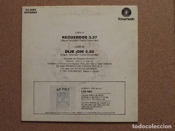 Discos de vinilo: LOS PIES - RECUERDOS + DIJE ¡OH! - Foto 2 - 74621319