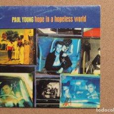 Discos de vinilo: PAUL YOUNG - HOPE IN A HOPELESS WORLD - DISCO PROMOCIONAL DE UNA SOLA CARA. Lote 74681191