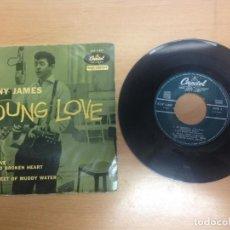 Discos de vinilo: EP SONNY JAMES EDITADO EN ESPAÑA YOUNG LOVE - HELLO OLD BROKEN HEART-FOR RENT-TWENTY FEET OF MUDDY . Lote 74706795