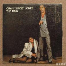 Discos de vinilo: ORAN JUICE JONES - THE RAIN - DISCO PROMOCIONAL DE UNA SOLA CARA. Lote 74715727