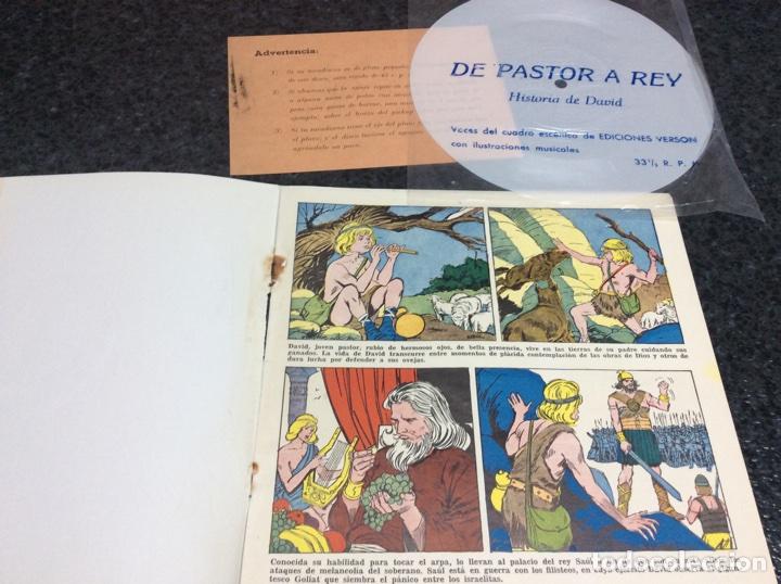 Discos de vinilo: LIBRO-DISCO, DE PASTOR A REY, HISTORIA DE DAVID - contiene vinilo - Foto 2 - 74734487